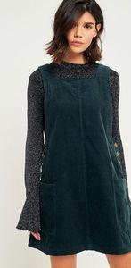 UO BDG NWOT Green Corduroy Pinafore Dress